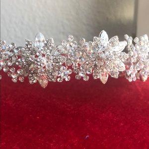 Swarovski crystals tiara bride